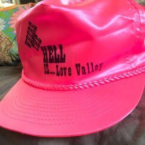 Vintage neon pink trucker hat